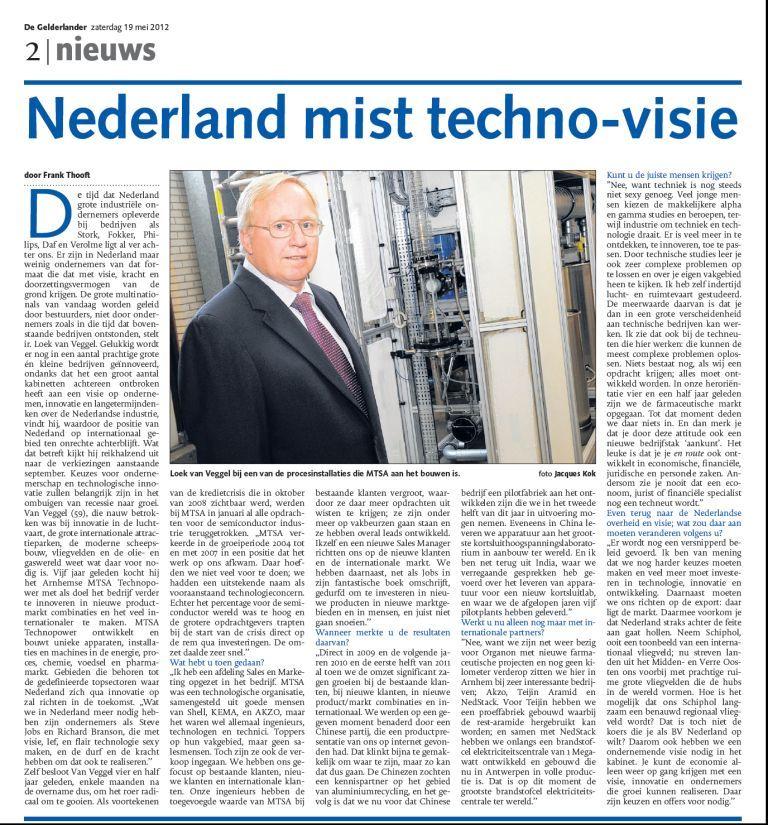 1205 Gelderlander - Nederland mist Techno-visie